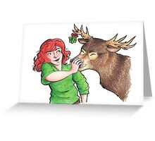 Christmas Fun with Lily and Prongs Greeting Card