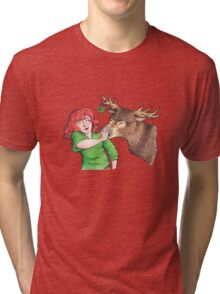 Christmas Fun with Lily and Prongs Tri-blend T-Shirt