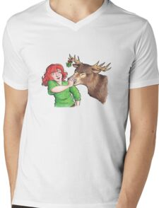 Christmas Fun with Lily and Prongs Mens V-Neck T-Shirt