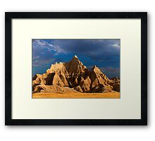Sunrise over Badlands National Park Framed Print