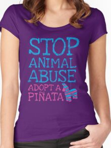 Stop Animal Abuse Adopt A Piñata Women's Fitted Scoop T-Shirt