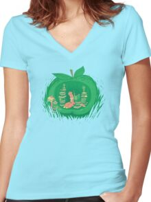 The Bookworm's Haven Women's Fitted V-Neck T-Shirt