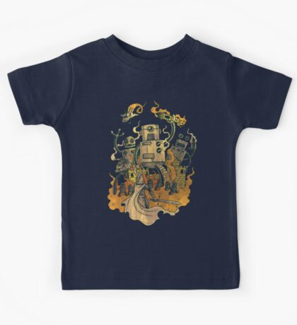 The Robots Come Out At Knight Kids Tee