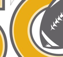 50 Pro Football Championship Ball Sticker