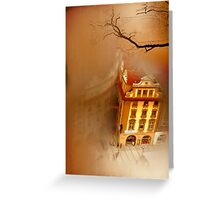 Looking Down-where the city sleeps Greeting Card