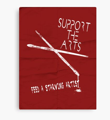 Support the Arts Canvas Print