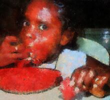 Eating Watermelon by Eve Parry