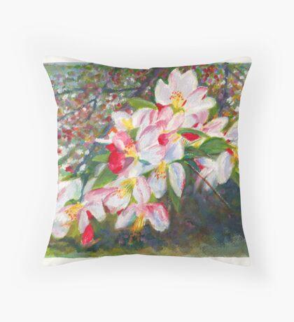 Apple Blossom - Spring in Melbourne Australia Throw Pillow
