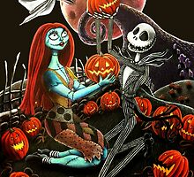 Jack and Sally Pumpkin Patch  by Arian Butler