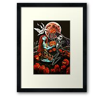 Jack and Sally Pumpkin Patch  Framed Print