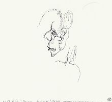 Night & (Nap) Drawings N°92 - My Mother again - made eyes closed by Pascale Baud