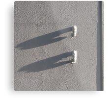 Minimal White and Shadows Metal Print