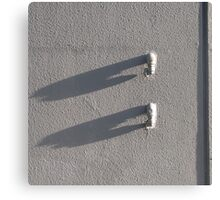 Minimal White and Shadows Canvas Print