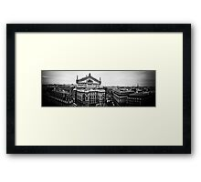 Paris Opera Panorama BW Framed Print