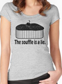 Doctor Who Portal the Souffle is a lie black Women's Fitted Scoop T-Shirt