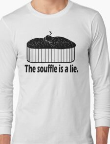 Doctor Who Portal the Souffle is a lie black Long Sleeve T-Shirt