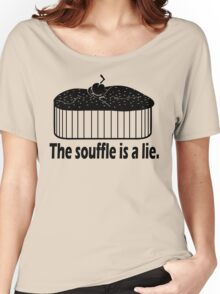 Doctor Who Portal the Souffle is a lie black Women's Relaxed Fit T-Shirt