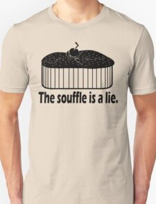 Doctor Who Portal the Souffle is a lie black Unisex T-Shirt