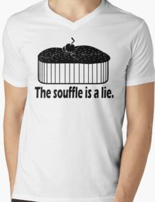 Doctor Who Portal the Souffle is a lie black Mens V-Neck T-Shirt