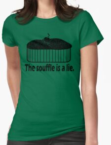 Doctor Who Portal the Souffle is a lie black Womens Fitted T-Shirt