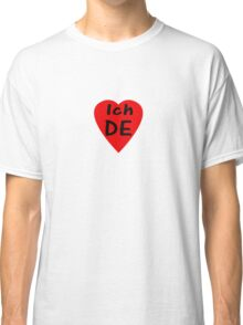 I Love Germany - Country Code DE T-Shirt & Sticker Classic T-Shirt