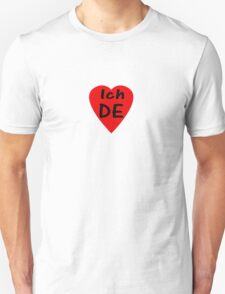 I Love Germany - Country Code DE T-Shirt & Sticker T-Shirt