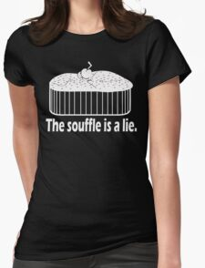 Doctor Who Portal the Souffle is a lie white Womens Fitted T-Shirt