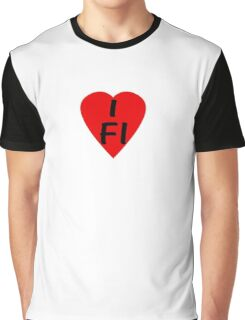 I Love Finland - Country Code FI T-Shirt & Sticker Graphic T-Shirt