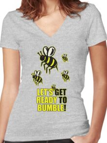 Ready to Bumble Women's Fitted V-Neck T-Shirt