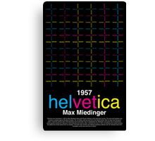 Helvetica Poster Canvas Print