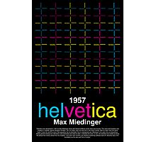 Helvetica Poster Photographic Print