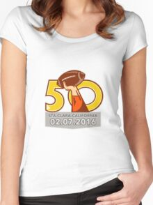Pro Football Championship 50 2016 Women's Fitted Scoop T-Shirt