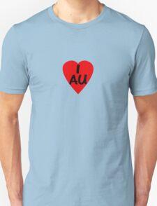 I Love Australia - Country Code AU T-Shirt & Sticker T-Shirt