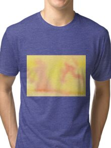 Hand-Painted Yellow Orange Watercolor Background Tri-blend T-Shirt