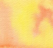 Hand-Painted Yellow Orange Watercolor Background by Beverly Claire Kaiya
