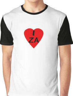 I Love South Africa - Country Code ZA T-Shirt & Sticker Graphic T-Shirt