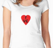 I Love Venezuela - Country Code VE T-Shirt & Sticker Women's Fitted Scoop T-Shirt
