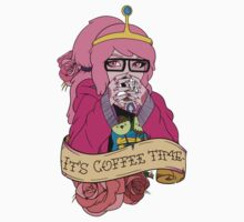 Adventure Time - It's Coffee Time (Princess Bubblegum) Kids Tee