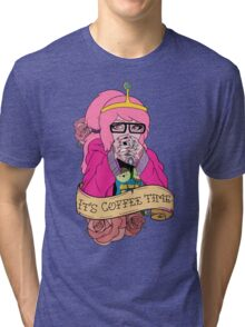 Adventure Time - It's Coffee Time (Princess Bubblegum) Tri-blend T-Shirt