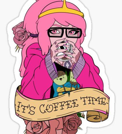 Adventure Time - It's Coffee Time (Princess Bubblegum) Sticker