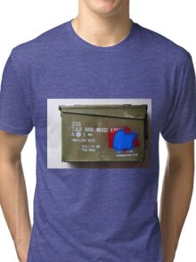 Army Ammo Box Graphic Shirt Tri-blend T-Shirt
