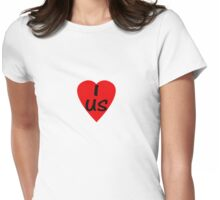 I Love USA Country Code US - USA T-Shirt & Sticker Womens Fitted T-Shirt