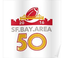 50 San Francisco Pro Football Championship Poster