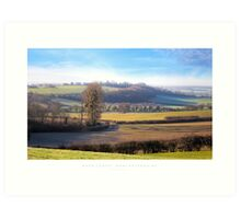 Rous Lench, Worcestershire Art Print