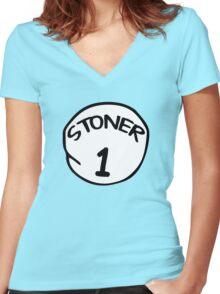 Stoner 1 Women's Fitted V-Neck T-Shirt