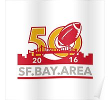 50 Pro Football Championship SF Bay Area 2016 Poster