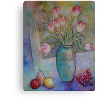 Floppy Pink Tulips Canvas Print
