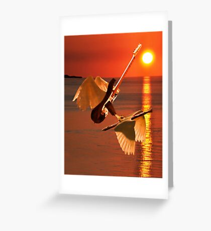 Death Of A Flute Greeting Card