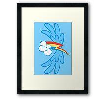 Rainbow Dash Cutie Wings Framed Print