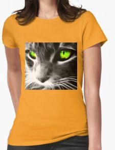 The green eyes pussy Womens Fitted T-Shirt